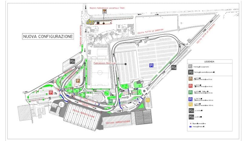 Карта аэропорта Катании