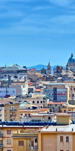 Vista di Caltanissetta, Sicilia