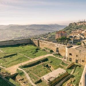 Castello di Enna visto dall'alto