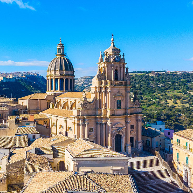 Chiesa di Ragusa Ibla vista dall'alto