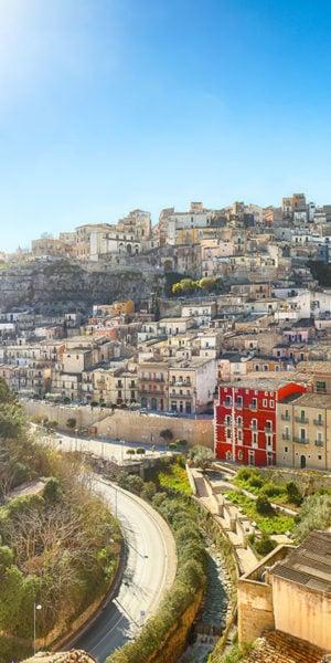 Panorama dall'alto di Ragusa
