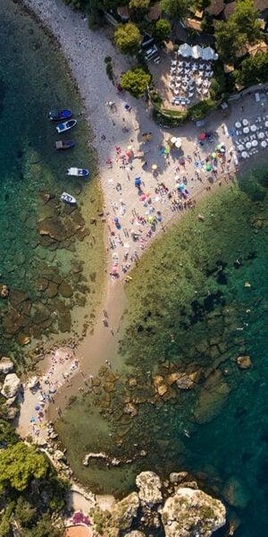 Isola Bella di Taormina vista dall'alto