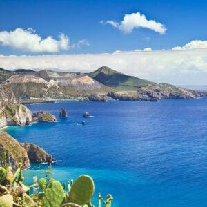 Vista delle Isole Eolie