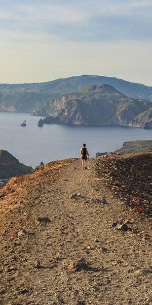 Sentiero di Vulcano nell'omonima isola