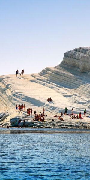 Vista della scala dei turchi a Agrigento