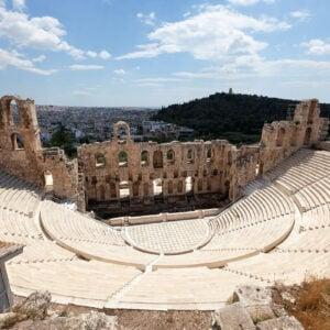L'anfiteatro dell'acropoli di Atene