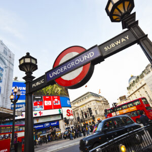Subway station at Piccadilly Circus in London, UK