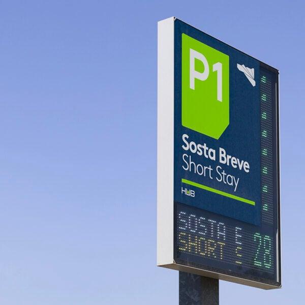 P1: parcheggio sosta breve aeroporto di Catania
